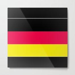 Striped , black , yellow , red Metal Print