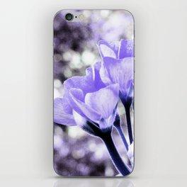 Periwinkle Flowers iPhone Skin