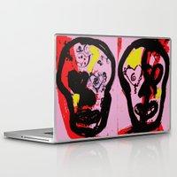 sugar skulls Laptop & iPad Skins featuring Sugar Skulls by veinard
