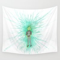 satan Wall Tapestries featuring I'm trying so hard to be normal by instantgaram
