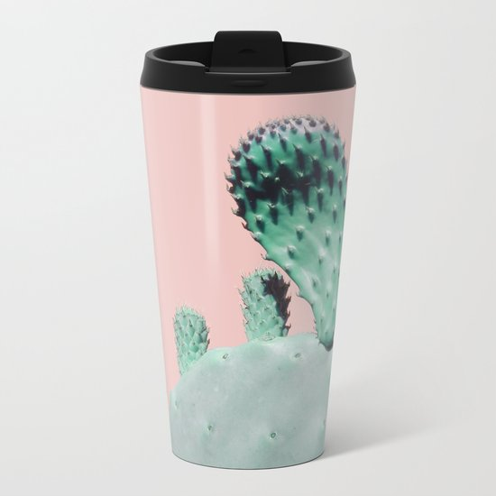 Cactus Blossom Metal Travel Mug
