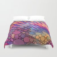 bubbles Duvet Covers featuring bubbles by Sylvia Cook Photography