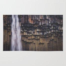 Waterfall and Basalt Rocks Rug
