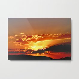 Dalby Sunset, Western QLD Metal Print