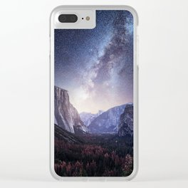 Yosemite Valley Milky Way Clear iPhone Case