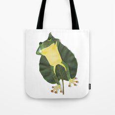 Lazy frog. Tote Bag
