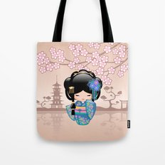 Japanese Keiko Kokeshi Doll Tote Bag