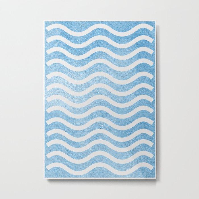Waves. Metal Print