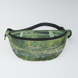 Water Lilies and the Japanese bridge - Claude Monet Fanny Pack