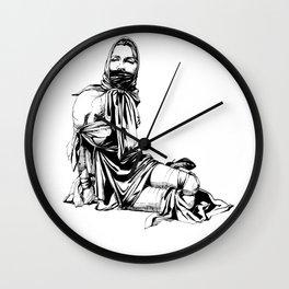 Silk Scarf Slave. Yury Fadeev© Wall Clock