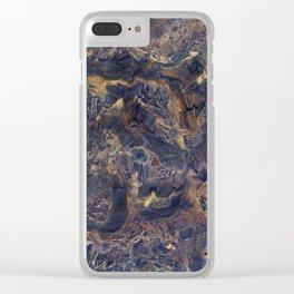 Midnight blue with Desert Sand Clear iPhone Case