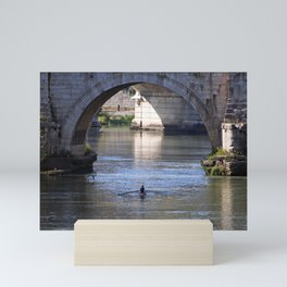 The River Under the Bridges Mini Art Print