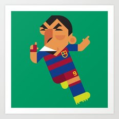 LS9 Mini | Blaugrana Art Print