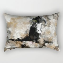 Down and Dirty! - Motocross Racer Rectangular Pillow