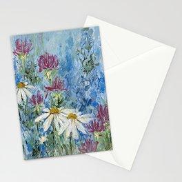 Wildflower Blues Garden Flower Acrylic Art Stationery Cards
