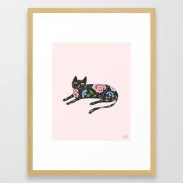 Flower Kitty Framed Art Print