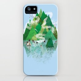 Mysterious Island iPhone Case