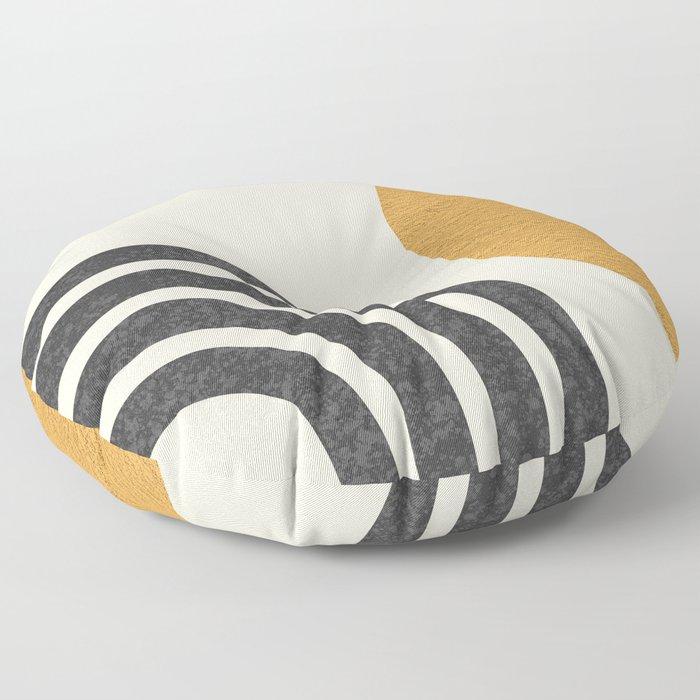 Mid century modern Sun & Rainbow Floor Pillow