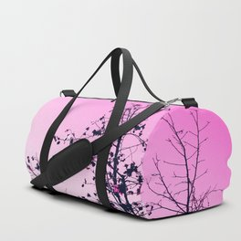 isolate tree branch abstract with leaf and pink background Duffle Bag