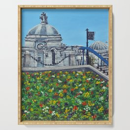 Spring at City Hall, Cardiff Serving Tray