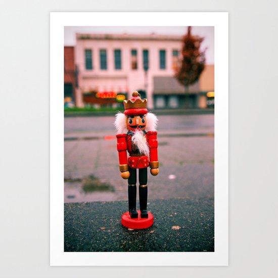Sidewalk nutcracker Art Print