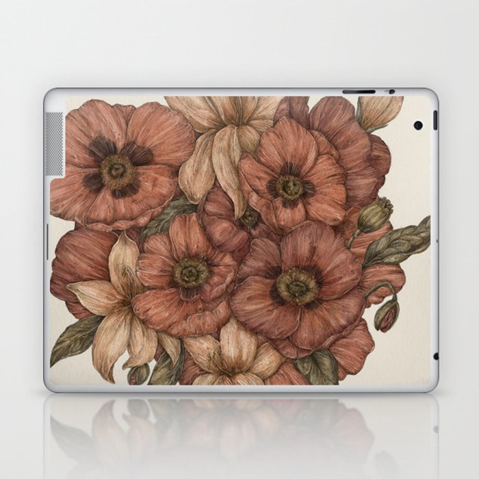 Poppies and Lilies Laptop & iPad Skin