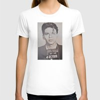 frank sinatra T-shirts featuring Frank Sinatra Mugshot (Front)  by All Surfaces Design