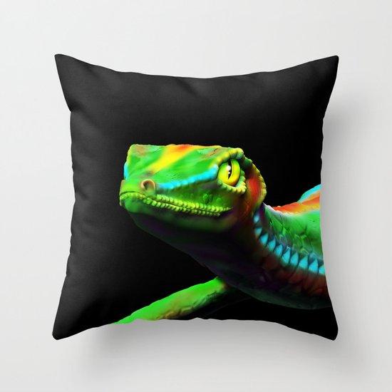 Gecko Lizard Close Up 3d Digital Art Throw Pillow By