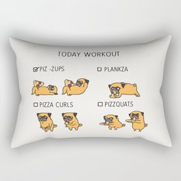 Today  Workout with the pug Rectangular Pillow