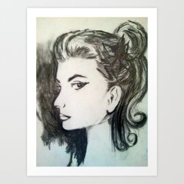 Lady in Sketch Art Print