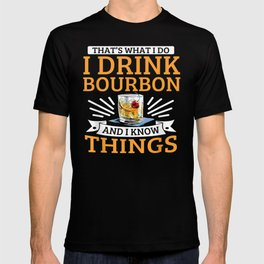 Bourbon Whiskey Ice Drink Party Bar T-shirt