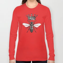 Queen Bee | Black and White Long Sleeve T-shirt