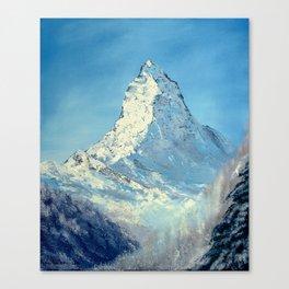 Matterhorn, Mont Cervin - original mountain landscape oil painting Canvas Print