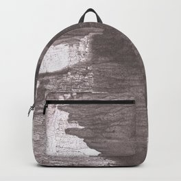 Gray vague wash drawing design Backpack