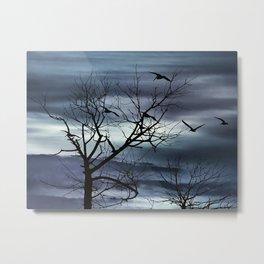 Night Nature Scene Photo Illustration Metal Print