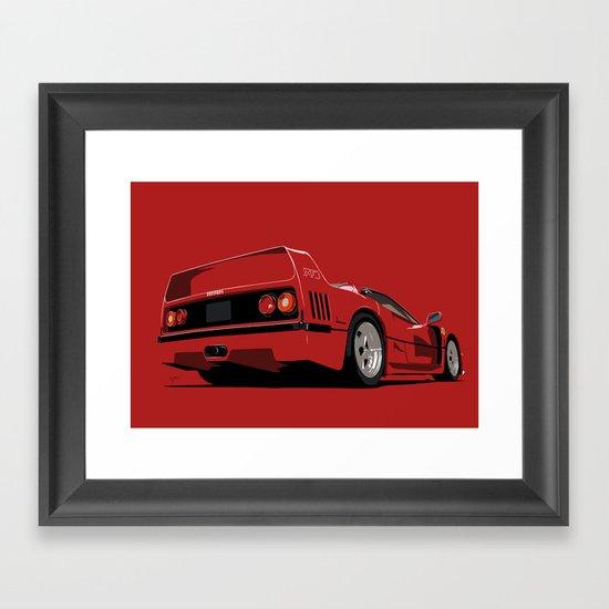 FERRARI F40 Framed Art Print