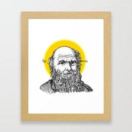 St. Darwin Framed Art Print