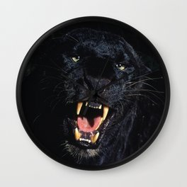 Black Leopard (Panther) Wall Clock