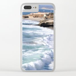 BOYS ON A ROCK 2 Clear iPhone Case