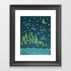 ...under the stars Framed Art Print