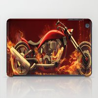 motorbike iPad Cases featuring FIRE MOTORBIKE by Acus