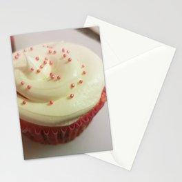 Pink sprinkles cupcake Stationery Cards