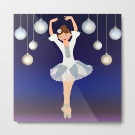 Ballerina dance on Christmas Eve. Metal Print