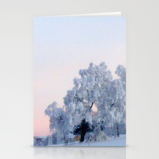 A cold day in Paradise Stationery Cards