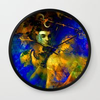 hindu Wall Clocks featuring Shiva The Auspicious One - The Hindu God by sarvesh