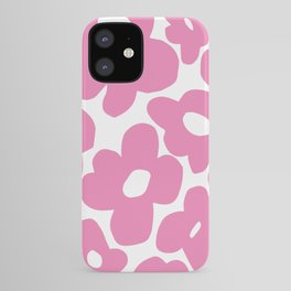 60s 70s Hippy Flowers Pink iPhone Case