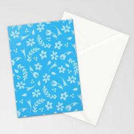 Macy - light blue Stationery Cards