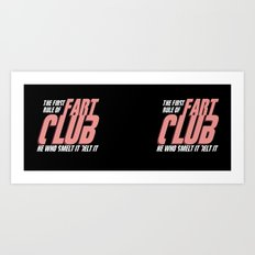 Fart Club Art Print
