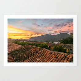 Rooftop Sunset Art Print