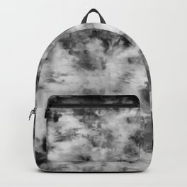 Grungey Black and White Tie Dye Backpack